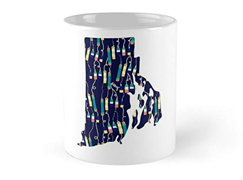 Oh Lilly Pulitzer Rhode Island State Mug - 11oz Mug - Best gift for family friends