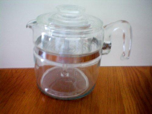 Vintage Pyrex 6 Cup Stove Top Percolator Coffee Pot