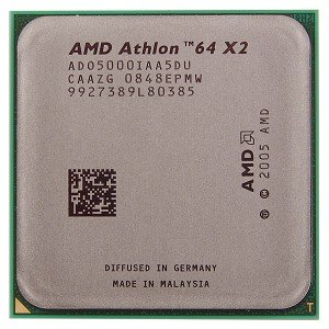- AMD Athlon 64 X2 5000+ 2.6GHz 2x512KB Socket AM2 Dual-Core CPU