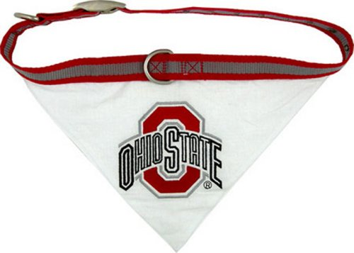 Pets First Collegiate Pet Accessories, Collar Bandana, Ohio State Buckeyes, Medium