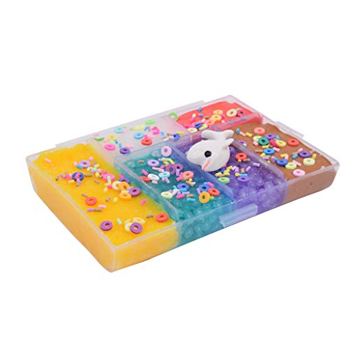 AutumnFall 6 Color Bling Shiny Cloud Mud DIY Fruit Animal Accessories Slime Kids Clay Toy (B) ()