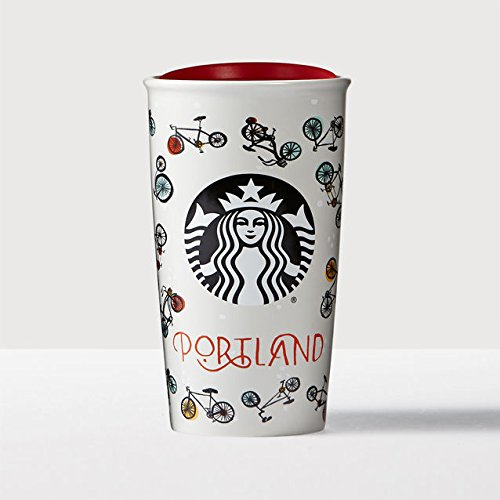 Starbucks Local Collection (Portland) Angel Ceramic Travel Mug