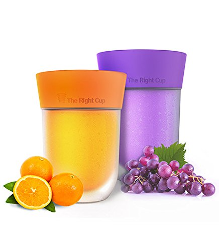 Revolutionary Scent-flavored Cup Enhances the Taste of Regular Water. Reduce Intake of Sugary Drinks. Save Calories and Money. BPA Free. Sugar-Free, Zero calories. Pack of 2 (Grape & Orange)