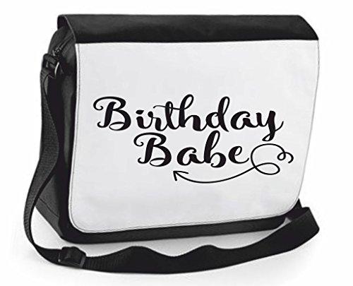 Cover Shoulder Statement Bag Case Compartment Handbag Babe Black Cute Traveling Crossbody Messenger Birthday Large qTnA0xt