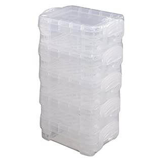 Super Stacker Bitty Box, 5 Pack of Mini-Boxes, 3.25 x 2.25 x 1.25 Inches Each, Clear (40315)