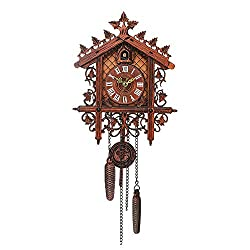 Galapara Retro Vintage Wood Cuckoo Clock for Living Room Home Restaurant Cafe Hotel Decor Chic Swing