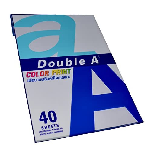 Hot A4 Premium Color Print Paper - 40 Sheets - Imported from Thailand - Color Print free shipping