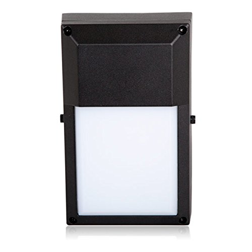 Maxxima Black Outdoor LED Wall Pack Light, 700 Lumens, 3000K Warm White, Rectangular, Energy Star