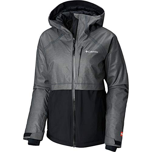 Columbia Outdry Glacial Hybrid Jacket - Women's Charcoal Heather/Black, M