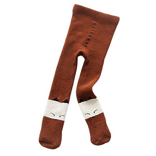 Gaorui Baby Boy Girl Winter Warm Pants Velvet Inner Fleece Lined Leggings Tights Cute Thick Stockings (Cotton Velvet Tights)