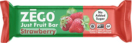 ZEGO Foods Just Fruit Bars, Strawberry, Non GMO, Vegan, Gluten Free, No Added Sugar, 25g (Pack of - Just Like Strawberry Sugar