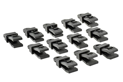 Plastic Tubing Clamps (SE 9615RB12 Awning/Tarp Clamps (12-Pack), Black)