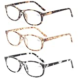 Kerecsen 3 Pack Fashion Men and Women Reading Glasses Stylish Designed Readers (3 Pack Mix Color, 2.5)