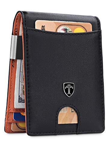 Money Clip Wallet HOUSTON Mens Wallet RFID Blocking Wallet - Minimalist Mini Slim Wallets Bifold for Men with Gift 1