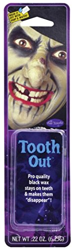 Fancy Halloween Scary Party Fake Artificial Prop Horror Look Tooth Out Wax ()