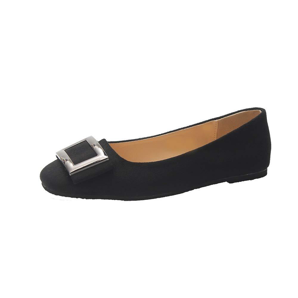 Nevera Comfortable Classic Flats Women's Shoes Slip On Ballet Flats Dress Shoes Black