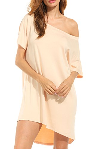 Hotouch Women One Shoulder Casual Short Batwing...