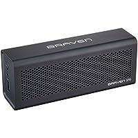 BRAVEN 570 Portable Wireless Bluetooth Speaker [10 Hour Playtime][Waterproof] Built-In 1400 mAh Power Bank Charger - Black
