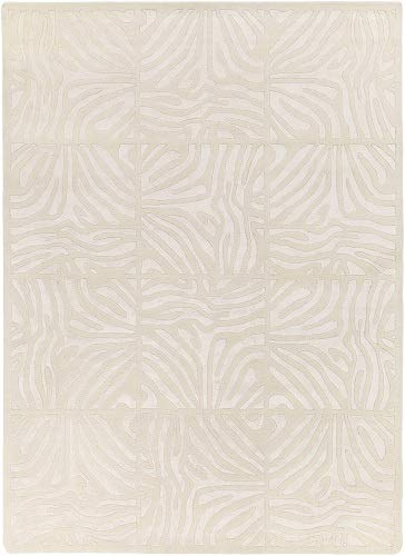 - Diva At Home 3.25' x 5.25' Burchelli Zebra Chain Parchment Wool Area Throw Rug