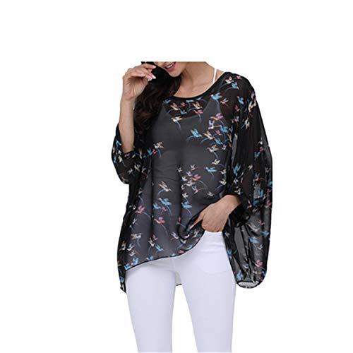Bhflutter Blouses Tops Style 66XL Plus SizeBlouse Chiffon Shirts Chemise Femme
