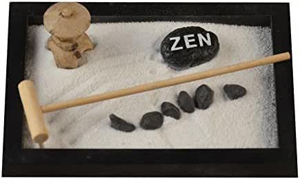 Mano hacer de madera Craft – jardín Zen arena bandeja decoración resina figura decorativa Decoración del hogar accesorios relajarse regalo del día de San Valentín: Amazon.es: Hogar