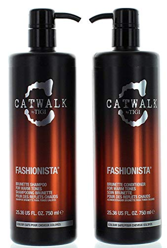 Tigi Catwalk Fashionista Brunette Shampoo and Conditioner, 25.36 Ounce Each
