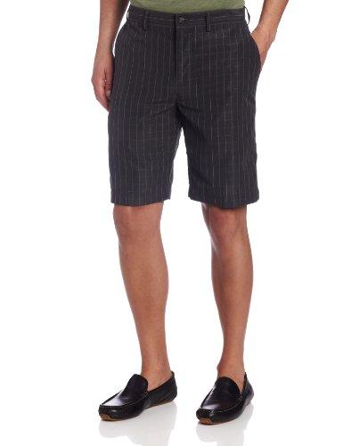 John Henry Men's Fancy Flat Front Short, Black, 38