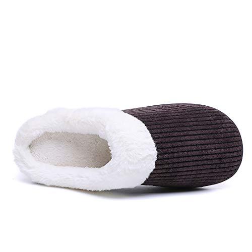 joyee Memory Slippers Comfy House Women's Coffee Z Foam Clog xqHwd1n0Ut
