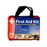 WELL-STRONG First Aid Kit 210 Pieces with Durable and Compact Canvas Bag for Home, Car, School, Office, Sports, Travel, Survival, Adventure, Marine, Outdoor Hiking and Camping …