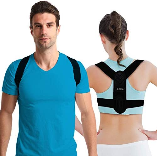 Posture Corrector for Men and Women - Adjustable Upper Back Brace, Upper Spine Support- Neck, Shoulder, Clavicle and Back Pain Relief-Breathable