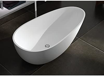 Transolid SML5829-01 Marisol Freestanding Bathtub, 58 x 29 x 23-Inch, White