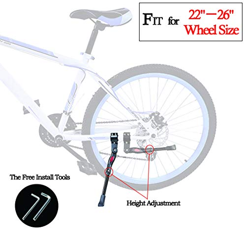 Lightweight Kickstand: Bicycle Kickstand,Bike Stand,Foldable Kickstand For Kids