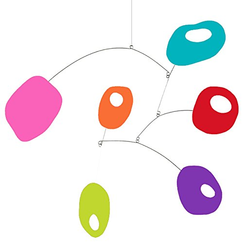 Delightful Retro Art Mobile by Atomic Mobiles in Bold Colors - 3 Sizes To Choose From - Inspired by Calder and Mid Century Modern Style