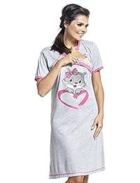Zeta Ville - Womens Maternity Nursing Nightdress Breastfeeding Nightie - 892c