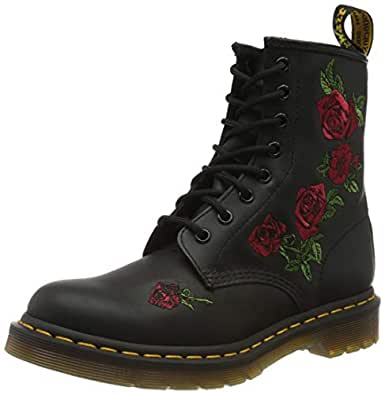 Dr. Martens - Womens 1460 Vonda 8 Eye Boot, Size: 5 B(M) US / 3 F(M) UK, Color: Black Softy T