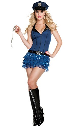 Prettycostume Sexy Police Woman Uniform Cop Dress Hollaween Costume