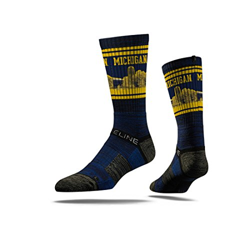 Premium College Football and Basketball Officially Licensed NCAA Athletic Fan Socks. Size Mens 5-13 The Most Comfortable Sock on Earth Worn by Elite Players in The NFL, NBA, and MLB. From Strideline. (U Of M Football compare prices)