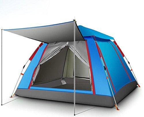 スプリット環境保護主義者男らしさ全自動アウトドア3-4テントキャンプ用品ダブルレインキャンプテント
