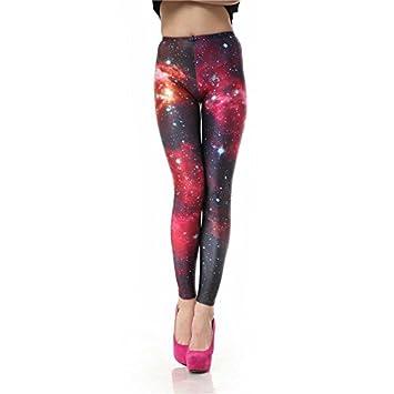 MAYUAN520 Les Femmes Legging Galaxy Rouge numérique 3D Legins Sexy Slim  Pantalons Collants Leggins Imprimé f0f5a254163