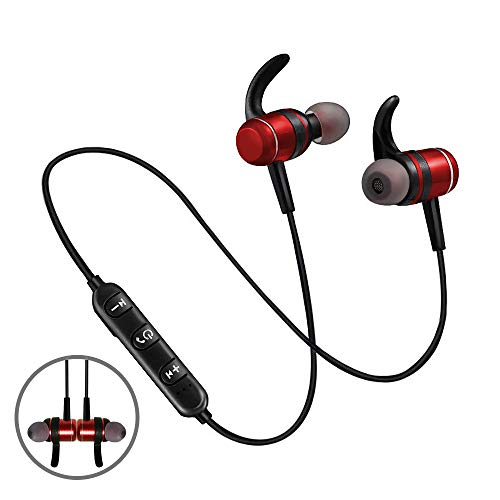 Aukiss Magnetic Wireless in-Ear Earphones, Sport Fit Design Bluetooth Earbuds Headphones, Sweatproof Headsets(Bluetooth 4.2 Super Sound Quality)