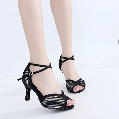 black 5cm 7 Nero Heel 35 Ballroom Minitoo Donna tRvqUS6v