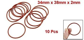 sourcingmap Silicone O-Ring 16mm Outside Diameter 12mm Inner Diameter 50PCS VMQ Seal Rings Sealing Gasket Red 2mm Width