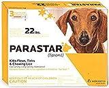 Novartis Parastar 3pk Flea and Tick Control For Dogs under 22lbs (Orange)