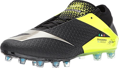 Diadora Men's MW RB BLUSHIELD BSH12 Soccer Cleats (10 M US, Black/Yellow Fluo)