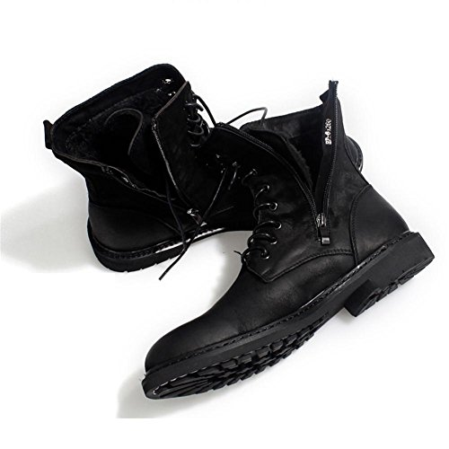 skid of the in tide warm plush shoes anti Men's boots middle cotton black winter WT6fWxn