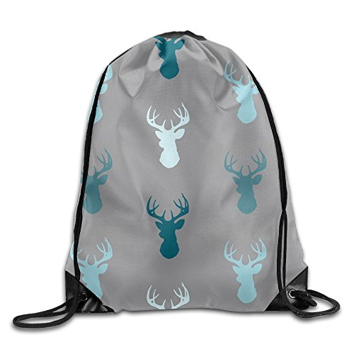 Price comparison product image Deer Draw Cord Bag Drawstring Backpack Sackpack Knapsack For Hiking Swimming Yoga