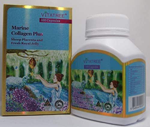 VitaTree Marine Collagen Plus Sheep Placenta & Fresh Royal Jelly 100 Capsules Australian Made