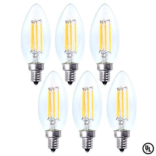 Kingstar LED Filament Candle Light Bulbs Set,4W...