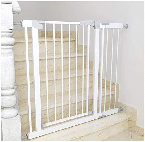 Huo Safety Gates for Children Metal Stairs Gate Pressure Mount Pet Gate for Bedroom Kitchen Aisle Living Room (Size : 131-138cm)