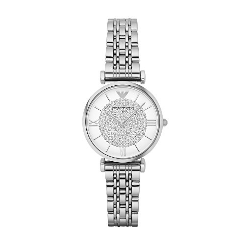 (Emporio Armani Women's AR1925 Retro Silver Watch)
